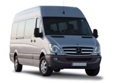 Bus: Mercedes Sprinter for grouptransfers for max 18 - 20 passengers (mainly used with trailer by groups with lots of luggages)