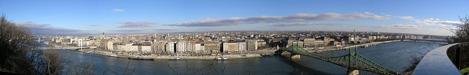 Panorama Budapest - Aussicht vom Gellertberg